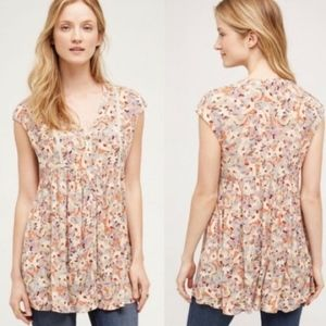 Vanessa Virginia | Floral Button Front Tunic Top